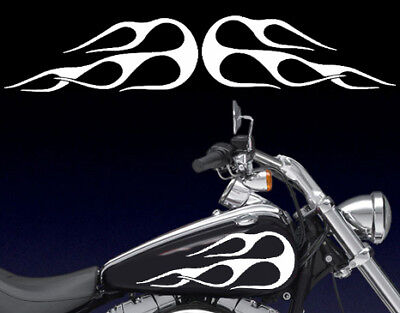 Universal Motorcycle Gas Tank Flames Decals Fits Harley