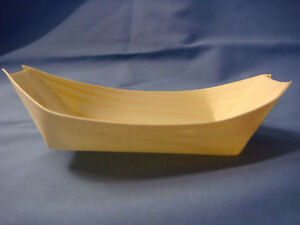 Bamboo oval canape food serving boat 11cm long x 6 5cm for Bamboo canape boats