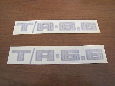 1979 Trans Am Shaker Hood t/a 6.6 Shaker Decals