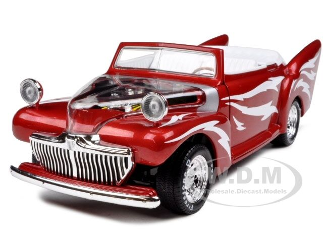 Greased Lightning Red 1/18 Diecast Model Car By Autoworld Amm955