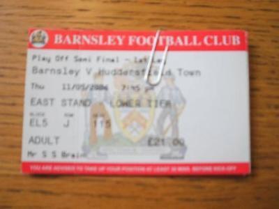 11/05/2006 Ticket: Play-Off Semi-Final League 1, Barnsl