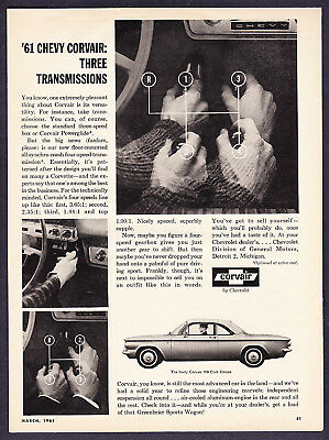 1961 Chevrolet Corvair 700 Club Coupe Photo Promo Ad