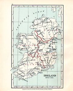 VICTORIAN-MAP-IRELAND-about-1500-CONNAUGHT-MUNSTER-c