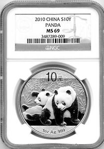 2010-1-OZ-SILVER-PANDA-CHINA-10-YN-YUAN-NGC-MS69-999-FINE-S10Y-PROOF-LIKE-COIN