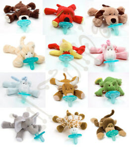 NEW-WubbaNub-Baby-Infant-Pacifier-Soothie-Plush