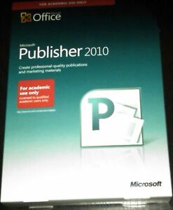 MICROSOFT-PUBLISHER-2010-BRAND-NEW-SEALED-IN-STOCK
