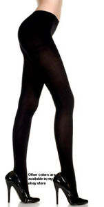 NEW-PLUS-SIZE-BLACK-NYLON-OPAQUE-TIGHTS