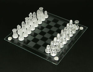 Glass Chess Set, Elegant Glass Board, Glass Pieces