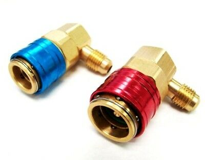 Car Ac R134a Port Snap Quick Connector Adapter Hvac 1/4 on sale