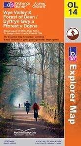 Wye Valley and Forest Of Dean Explorer Map - OL 14 - OS