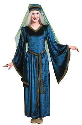 Maid Marion Marian Renaissance Lady Blue Adult Halloween Costume ()