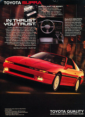 1988 Toyota Supra Red Vintage Advertisement Ad P36