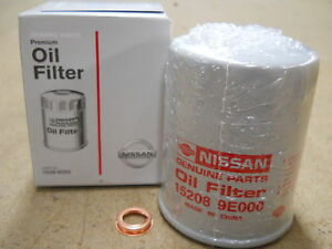Genuine Nissan Oil Filter 15208-9E01A With Washer Qty 1