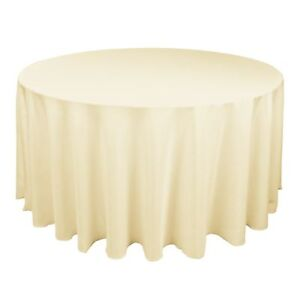 10-120-ROUND-SEAMLESS-IVORY-TABLECLOTHS-WEDDING