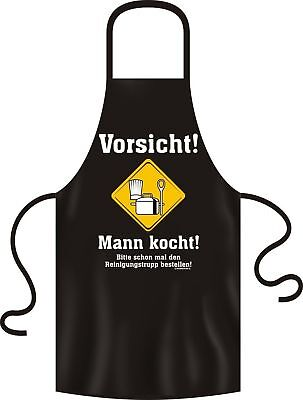 geil bedruckte Kochschürze Koch Grill Schürze - Mann kocht - Geburtstag Geschenk