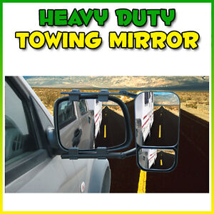 MULTI-FIT HEAVY DUTY TOWING MIRROR 4X4 4WD BOAT CARAVAN SINGLE UNIVERSAL