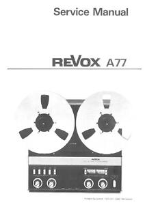 REVOX-A77-SERVICE-MANUAL-ON-CD-R