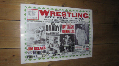 Wrestling Big Daddy v Giant Haystacks Repro POSTER