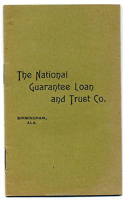 1897 BIRMINGHAM ALABAMA Savings & Loan Bank By-Laws; pamphlet imprint