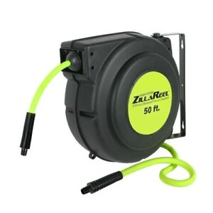 "Details about Legacy 3/8"" X 50' Zilla Reel, Retractable Air Hose Reel"