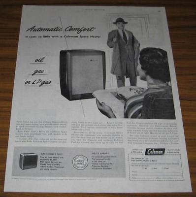1951 AD~COLEMAN SPACE HEATERS~OIL,GAS OR LP GAS