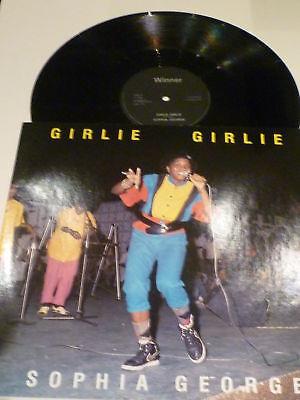 "SOPHIA GEORGE - Girlie Girlie - 1985 UK 2-track 12"""
