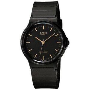 Casio Watch Black Plastic Water Resist MQ-24-1E MQ24