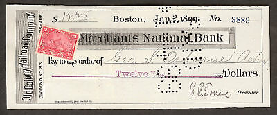 Merchants National Bank Boston Old Colony R R  Co  1899