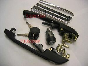 VW GOLF MK1 MK2 & GTI  DOOR HANDLES LOCK SET C516