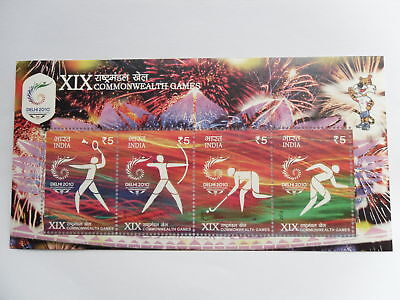 "- STAMPS INDIA - MINIATURE SHEET - "" XIX  COMMONWEALTH  GAMES """