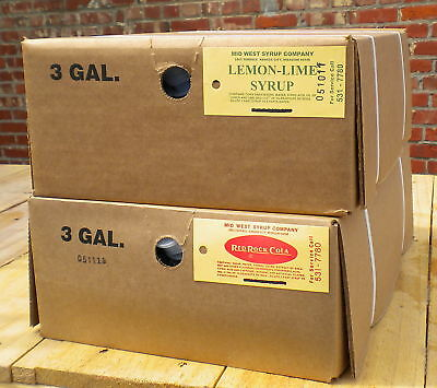 Soda Fountain Syrup - Two 3 Gallon Bag-n-box Drink Bar Flavors Your Choice