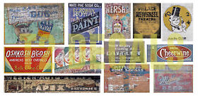 HO-Scale-Ghost-Sign-Decals-30-For-Structures-Buildings-Lot