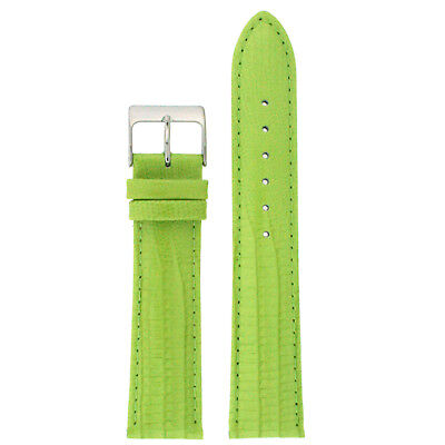 Watch Band Lizard Grain Lime Green Patent Leather Lea416