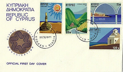 CYPRUS 1971 TOURISM ILLUSTRATED FIRST DAY COVER