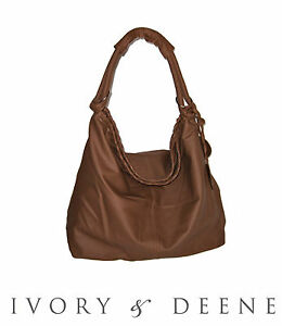 NEW Brown Soft Leather Look Handbag Bag Purse Fast Free Postage Satchel Slouch