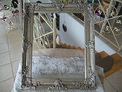 NEU Bilderrahmen Barock Wand Rahmen Prunk Rahmen Holz Silber 64cm Antiklook  NEU