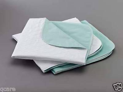 4 Washable Reusable Hospital Underpads Bed Pads Med. Size...