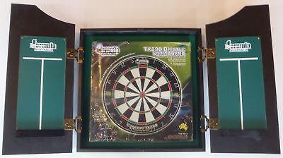 Dart Board Set Solid Wood Black Ash Dart Board Cabinet, Bristle Tx290 Dart Board