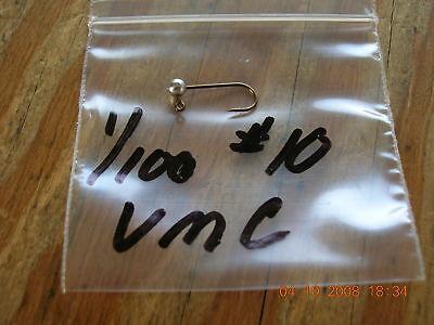 50 1/100 Oz Ball Head Jigs W 10 Vmc Bronze Hooks