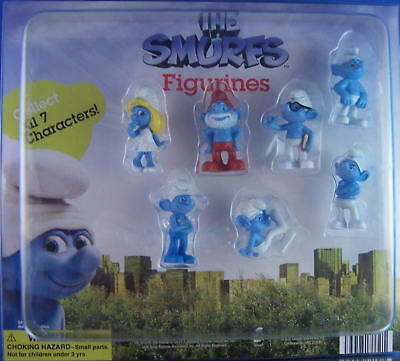 Smurfs Mini Figures - Cake Toppers - 2011 3d Movie - You Pick One Figure Or Set