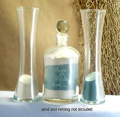 Wedding Unity Sand Ceremony Set Personalized glass ...