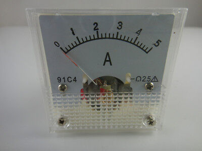 Analog Amp Current Panel Meter Dc 05a 91c4 Ammeter