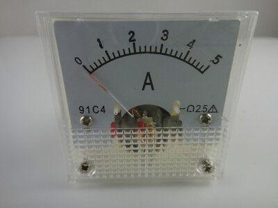 Analog Amp Current Panel Meter Dc 05a 91c4 Ammeter