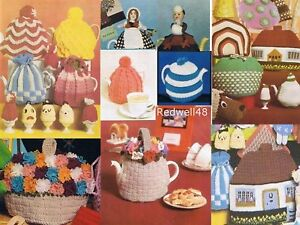 OVER 60 TEA, COFFEE & EGG COSY OR COZY KNITTING PATTERNS ON CD, LOADS TO KNIT