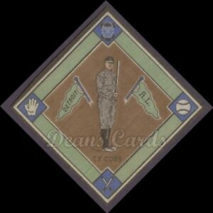 1914-B18-Blankets-14B-Ty-Cobb-Brown-Infield-Near-Mint-Condition
