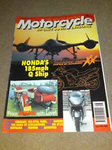 MOTORCYCLE-SPORT-LEISURE-CBR1100-Aug-1996