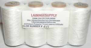 4tubes White Spun Polyester Quilting Serger Sewing Thread1