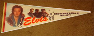 ELVIS-PRESLEY-PENNANT-KING-OF-ROCK-N-ROLL-1935-1977-FREE-USA-SHIPPING
