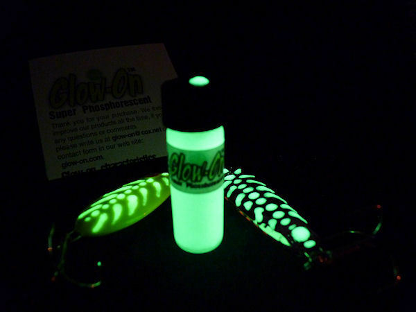 Glow on yellow glow in the dark paint gun sights and for Glow in the dark fishing lures