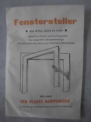 3 X FENSTERSTELLER NEU DDR OVP PLASTIK LÜFTUNG FENSTER